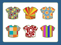 Mens t-shirts with funky designs Stock Image