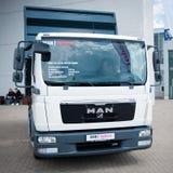 MENS TGL 8 150 4x2 de vrachtwagen van BB Stock Foto's