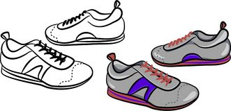Mens trainers. A generic pair of male sneakers stock illustration