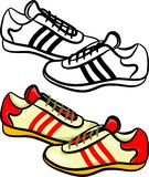 Mens trainers Royalty Free Stock Photography