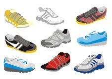 Mens training shoes Stock Images