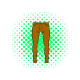 Mens trousers icon, comics style Royalty Free Stock Image