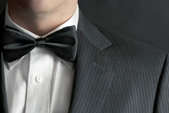 Mens in Tux stock afbeelding