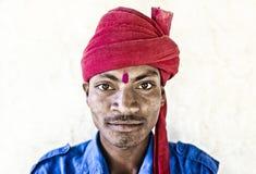Mens in Udaipur stock afbeelding