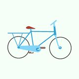 Mens urban exercise bike Royalty Free Stock Images