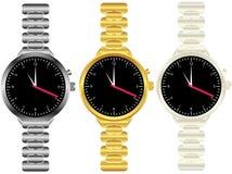 mens ustalony zegarków nadgarstek Zdjęcie Stock