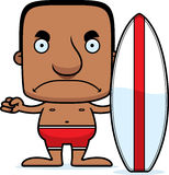 Mens van de beeldverhaal de Boze Surfer Royalty-vrije Stock Foto