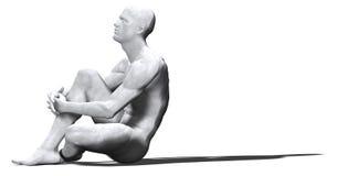 Mens van Marmer - 03 stock illustratie