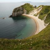 Mens van oorlogsstrand - Dorset het UK Royalty-vrije Stock Afbeelding