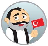 Mens van Turkije stock illustratie