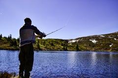 Mens visserij Royalty-vrije Stock Afbeeldingen