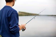 Mens visserij Stock Afbeelding