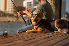 Mens visserij Stock Afbeeldingen