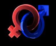 Mens-vrouw symbool Stock Afbeeldingen