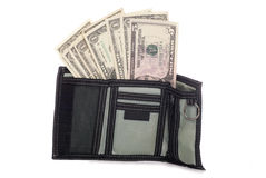 Mens wallet with American dollars Royalty Free Stock Images