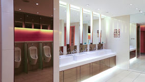 Mens washroom or toilet interior view Royalty Free Stock Images