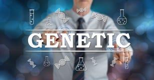 Mens wat betreft een genetisch concept stock afbeelding