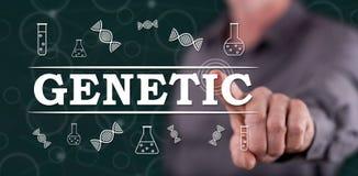 Mens wat betreft een genetisch concept stock foto