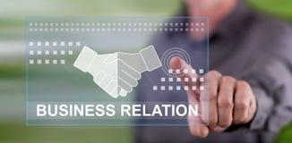 Mens wat betreft een zakenrelatie concept royalty-vrije stock foto's
