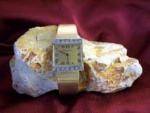 Mens Watch Rare Mathey Tissot. Circa 50s Rare collectors item. Diamonds and Gold original Mathey Tisset bracelet watch. Hand made original and historic. Very Royalty Free Stock Image