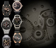 Mens watches background Stock Image