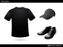 Mens wear black collection Royalty Free Stock Photography