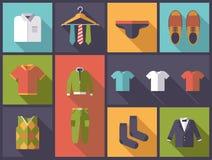 Mens wear flat design vector illustration. Stock Images
