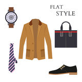 Mens Wear Look Fashion. Flat Style. Vector Stock Photo