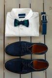 Mens wedding accessory. Royalty Free Stock Photo