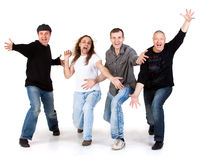 Mens on a white background Royalty Free Stock Images