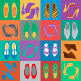 Mens and womens shoes Stock Image