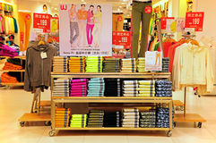Uniqlo fashion store, hong kong stock photos