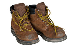 Mens work boots Stock Photography