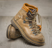 Mens working or hiking boots in vintage look Royalty Free Stock Photos