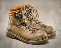 Mens working or hiking boots in vintage look Stock Photos