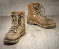Mens working or hiking boots in vintage look Stock Image