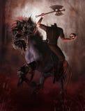 Mens zonder hoofd op een paard vector illustratie