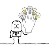 Mens zonder meer ideeën of energie Stock Fotografie
