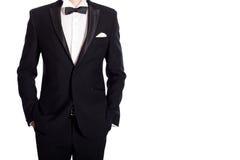 Mens in Zwart Kostuum royalty-vrije stock foto's