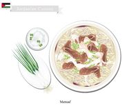 Mensaf or Jordanian Lamb Stew with Rice Stock Photography