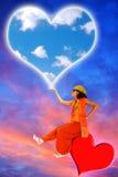 Mensageiro do amor. Imagem de Stock Royalty Free