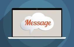 mensagem ilustração royalty free