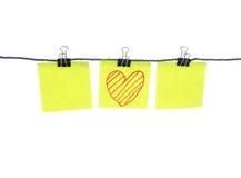 Mensagem bonita no papel de nota Imagem de Stock