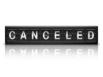 Mensagem cancelada Imagem de Stock