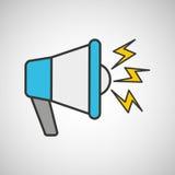 mensagem com projeto do megafono Imagem de Stock Royalty Free