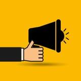 mensagem com projeto do megafono Imagens de Stock