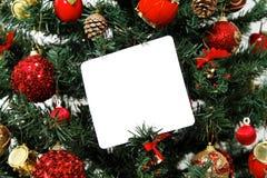 Mensagem da árvore de Natal fotografia de stock royalty free