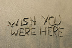 Mensagem da areia Foto de Stock Royalty Free