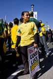 Mensagem da boa sorte para Bafana Bafana Fotografia de Stock Royalty Free