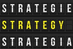 Mensagem da estratégia no calendário do aeroporto Foto de Stock